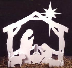 Wooden nativity - this would make cool yard art