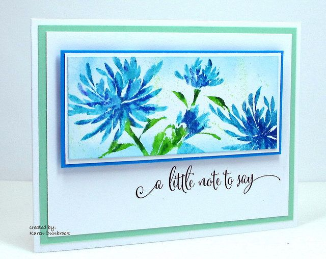 Whimsical Bluebonnet | Here is a card I made using some new … | Flickr