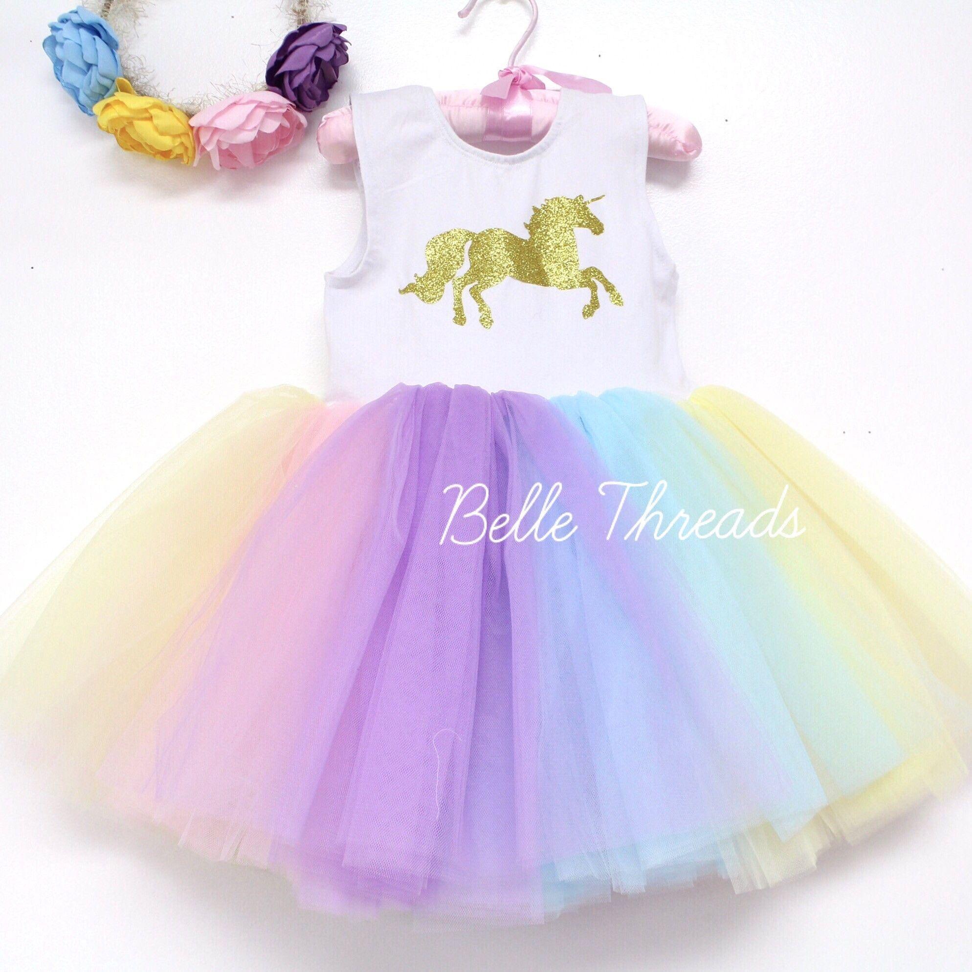 Unicorn LOVE Pastel Tutu Dress - Unicorn Birthday Outfit | Fiesta de ...