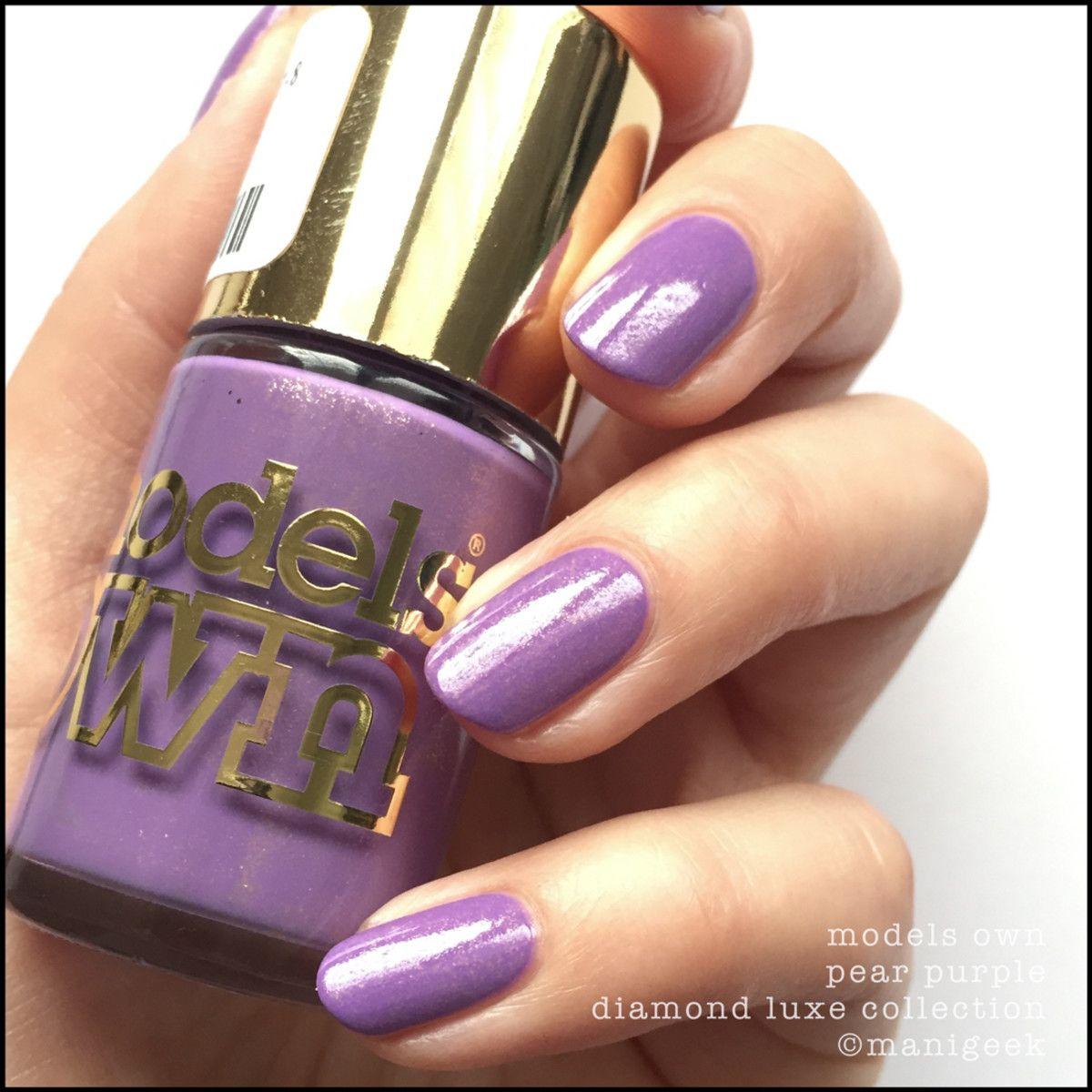 MODELS OWN PEAR PURPLE NOTD Purple nail designs