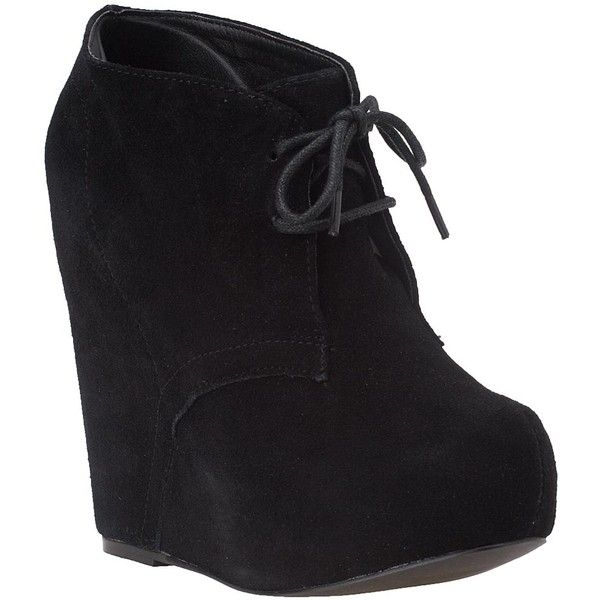 Steve Madden Annnie Black Suede Wedge Booties. I got some for my birthday this week, and I'm pretty sure they'll be my new favorite Fall time shoes :)