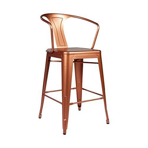 tolixstyle arm counter stool  copper  copper kitchen