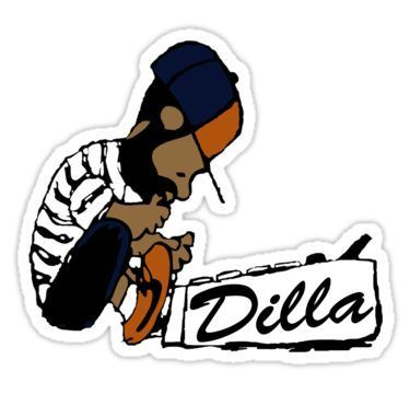 J Dilla  Today In Hip Hop History Sticker by BboyBarsir  J Dilla  Today In Hip Hop History Sticker