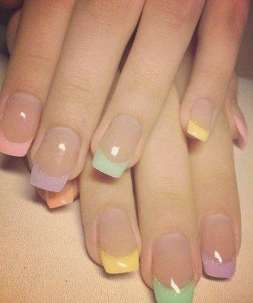 Coloured Tips Cute Nail Art Designs Pinterest Manicure