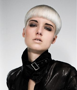 short blonde straight bob coloured womens hairstyles for