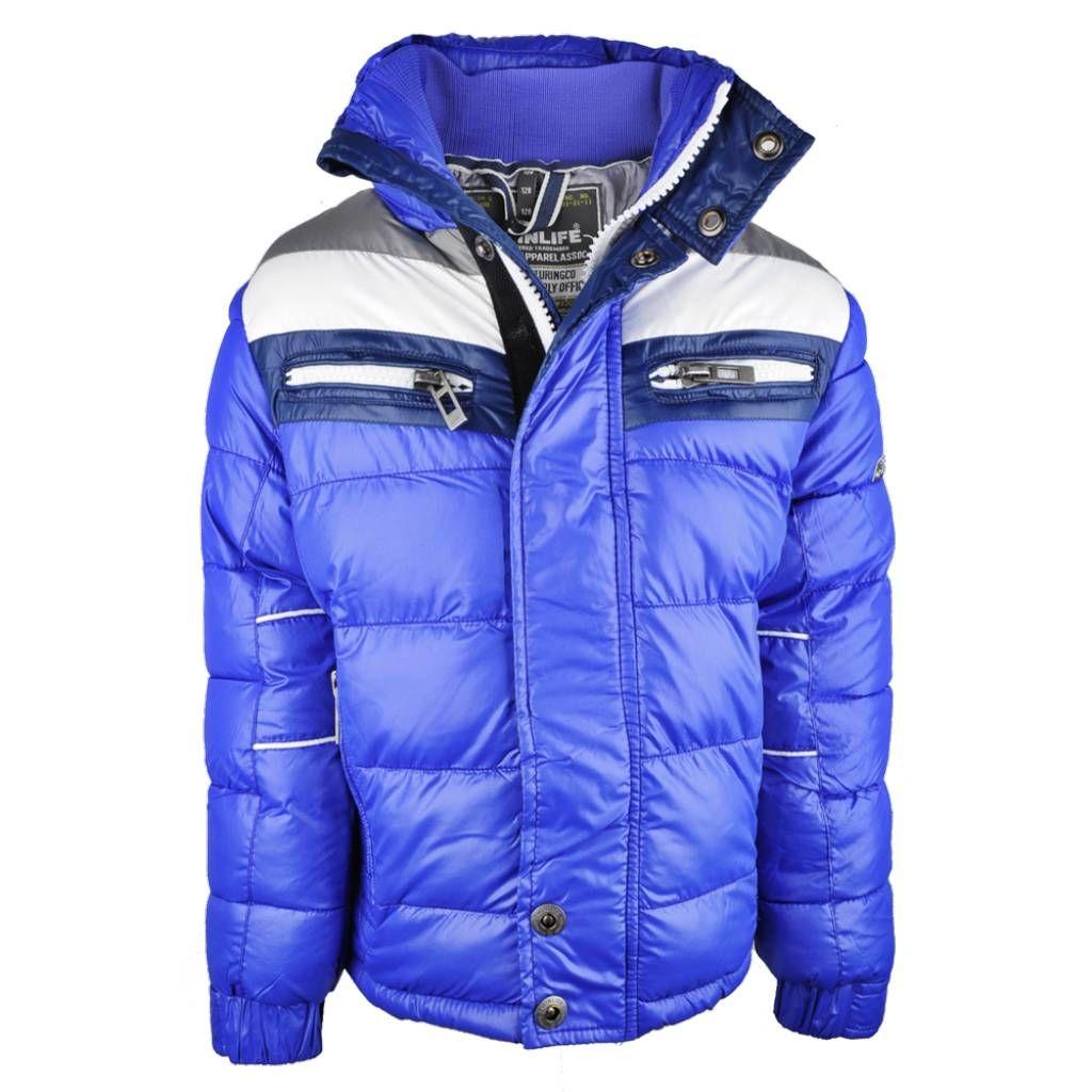Twinlife Winterjas deep blue, wintercollectie jongens