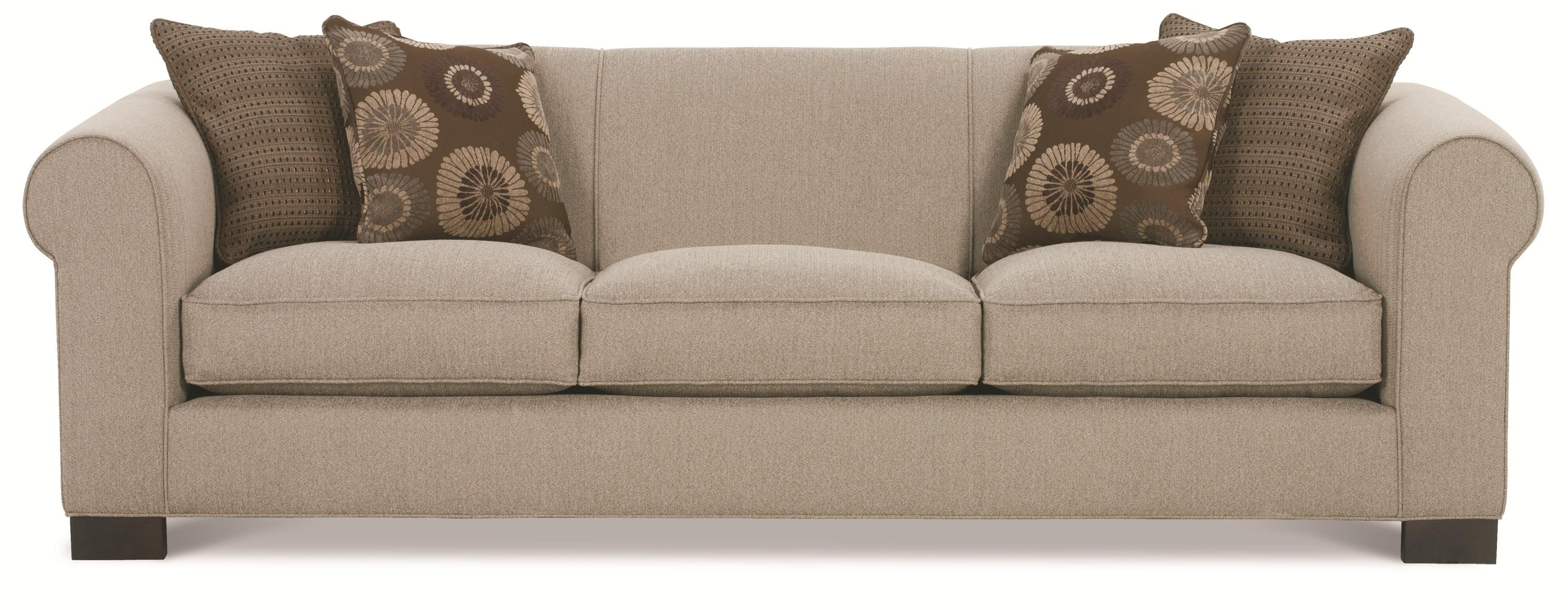 Galloway Three Seat Sofa With Rolled Arms By Rowe   Zaku0027s Fine Furniture    Sofa