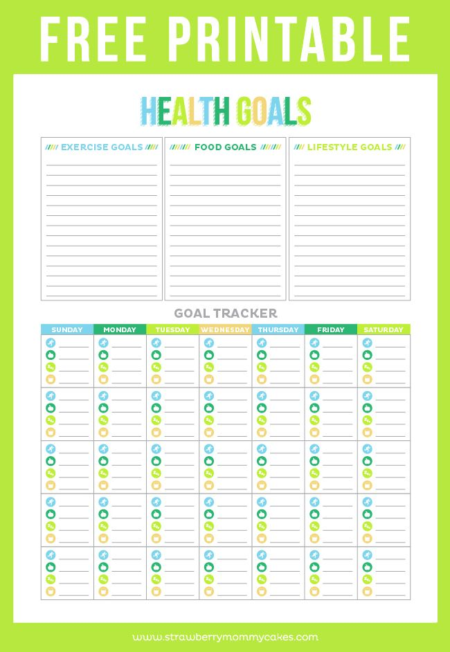 photo about Goal Tracker Printable identify No cost Printable Physical fitness Tracker upon www.strawberrymommycakes