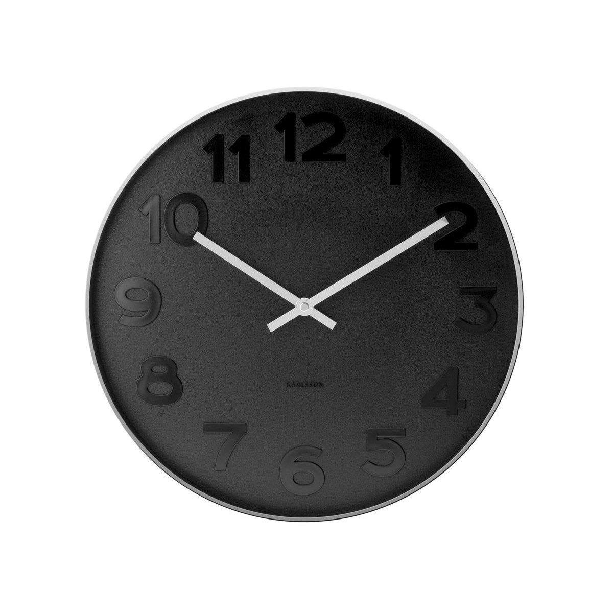 Horloge Métal Rond Mr Black Ronde Karlsson Diam375 Cm En