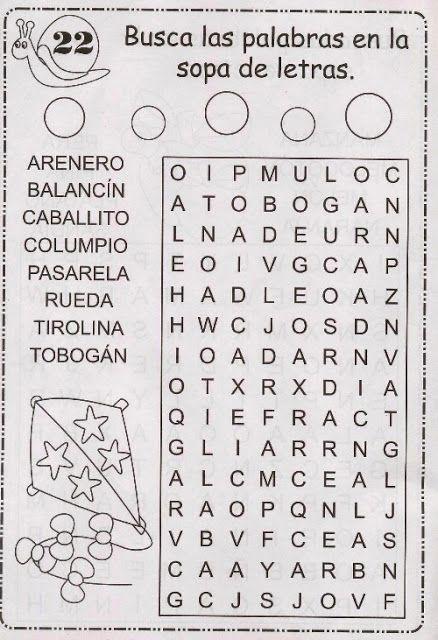 Pdf 22 Jpg Sopa De Letras Sopa De Letras Para Niños Sopas De Letras Para Imprimir Gratis