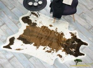 Kuhfell Teppich Braun Aus Kunstfell