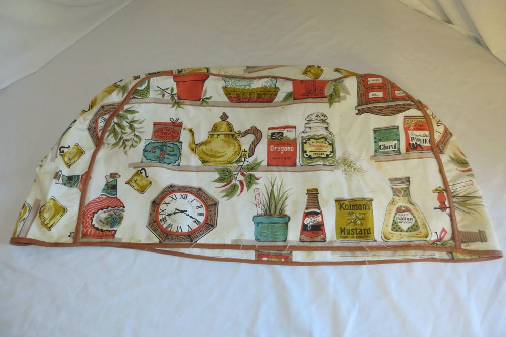 """Vintage 20"""" Long 4 Slice Toaster Cloth Cover, Kitchen Pantry Theme in Collectibles, Linens & Textiles (1930-Now), Kitchen Textiles 