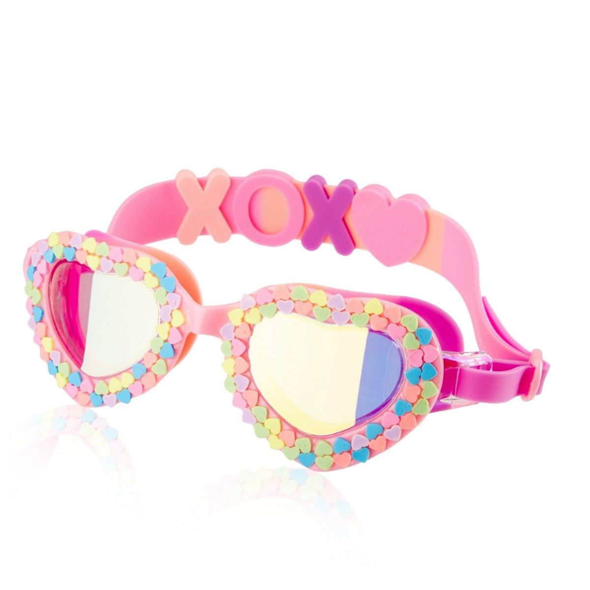 c0ae4632c18 Be your own valentine with the Bling2O Kids  Candy Hearts Swim Goggle.  Featuring candy