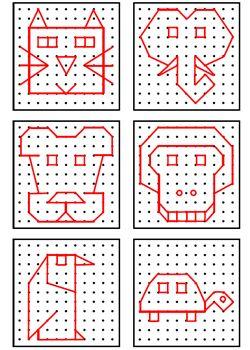Super Géométrie, fiches d'exercices GS CP CE1 - Les Coccinelles  ZH74