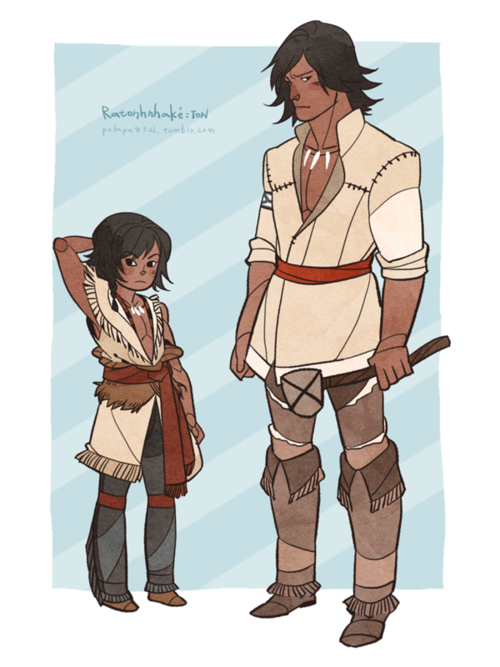 Kid Connor and teen Connor  I like the native clothes