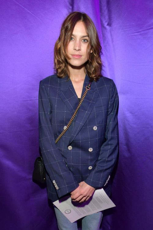 "celebsofcolor: ""Alexa Chung attends the Gucci show during Milan Fashion Week Fall/Winter 2017/18 on February 22, 2017 in Milan, Italy. """