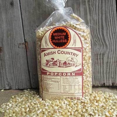 2LB Medium White Popcorn - Amish Country Popcorn