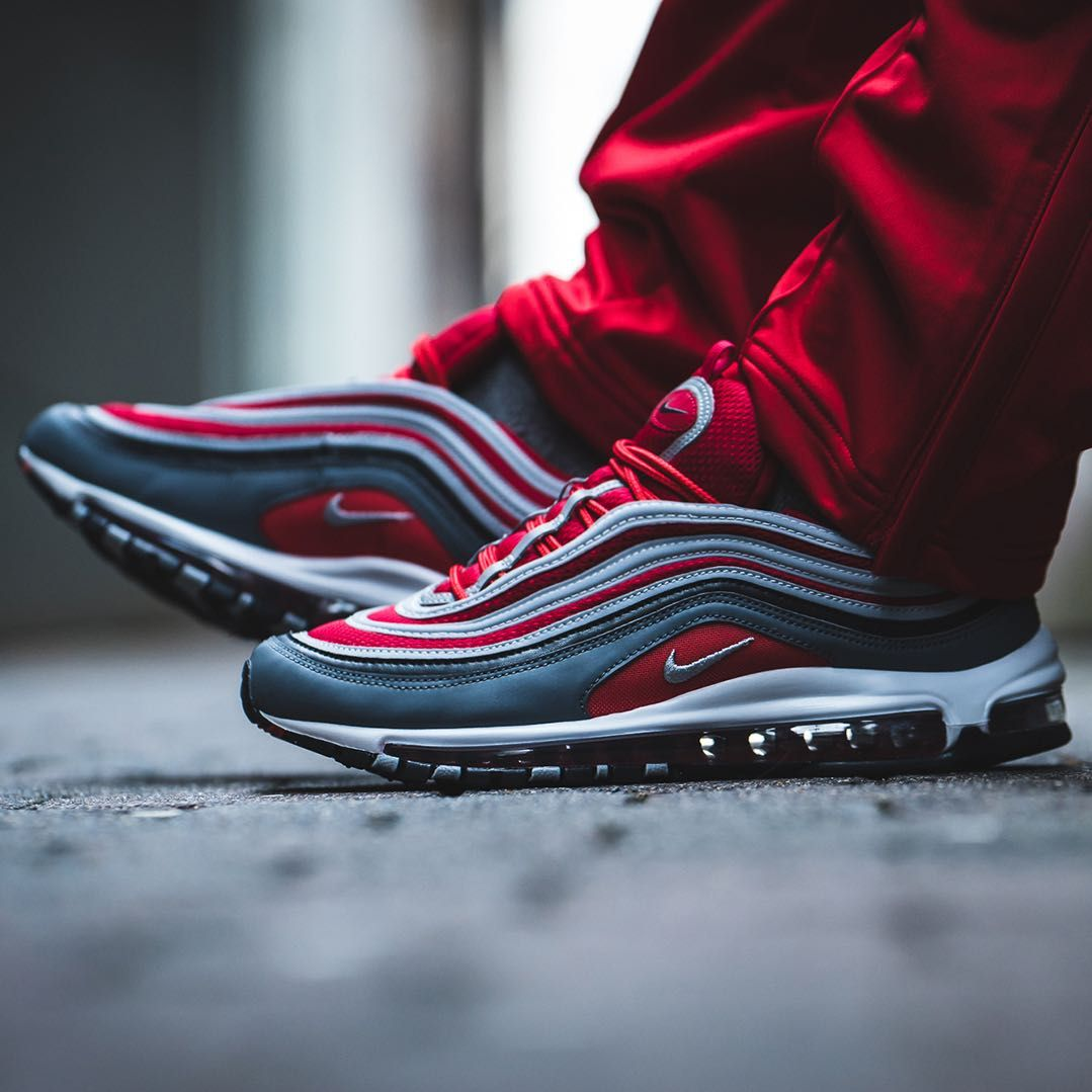 new style b9ec4 57358 Nike Air Max 97 Grey   Red   White Credit   43einhalb