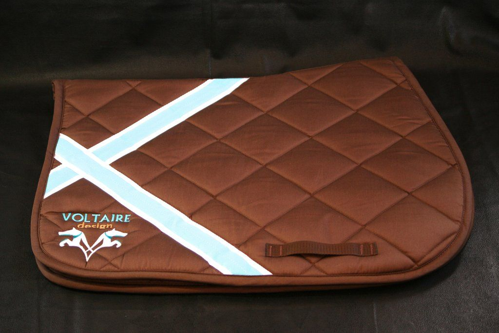 New Voltaire Design Saddle Pad In Brown Full Horse Size Saddle Pads Voltaire Saddle