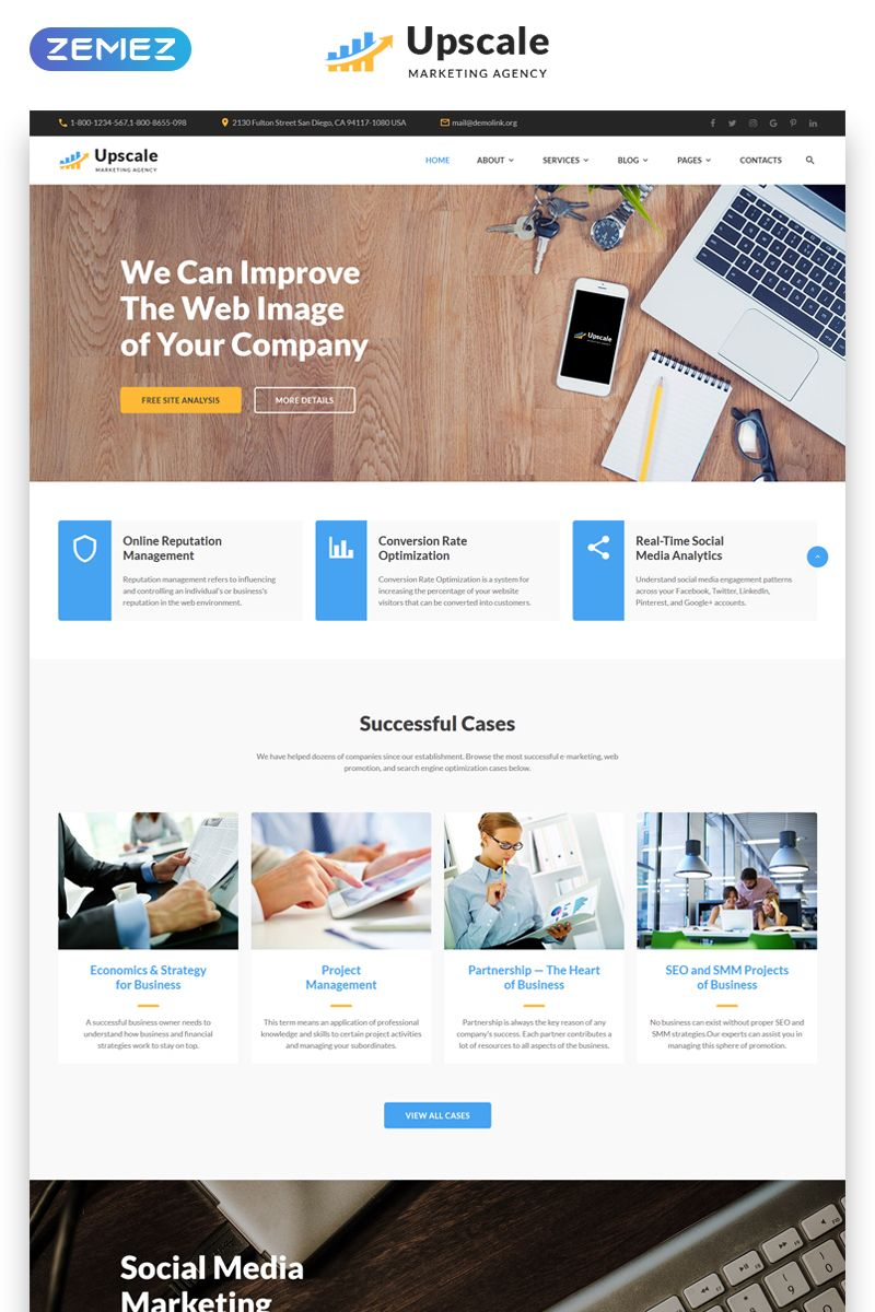 Upscale Modern Marketing Agency Multipage Website Template Website Marketing Modern Network Marketing Website Marketing Agency Business Website Templates