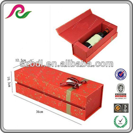 luxury decorative paper wine bottle gift boxes $0.3~$1