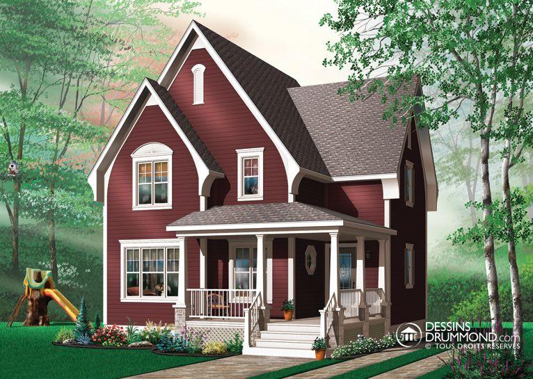 Plan modèle 1 étage et demi modèle maison Pinterest House