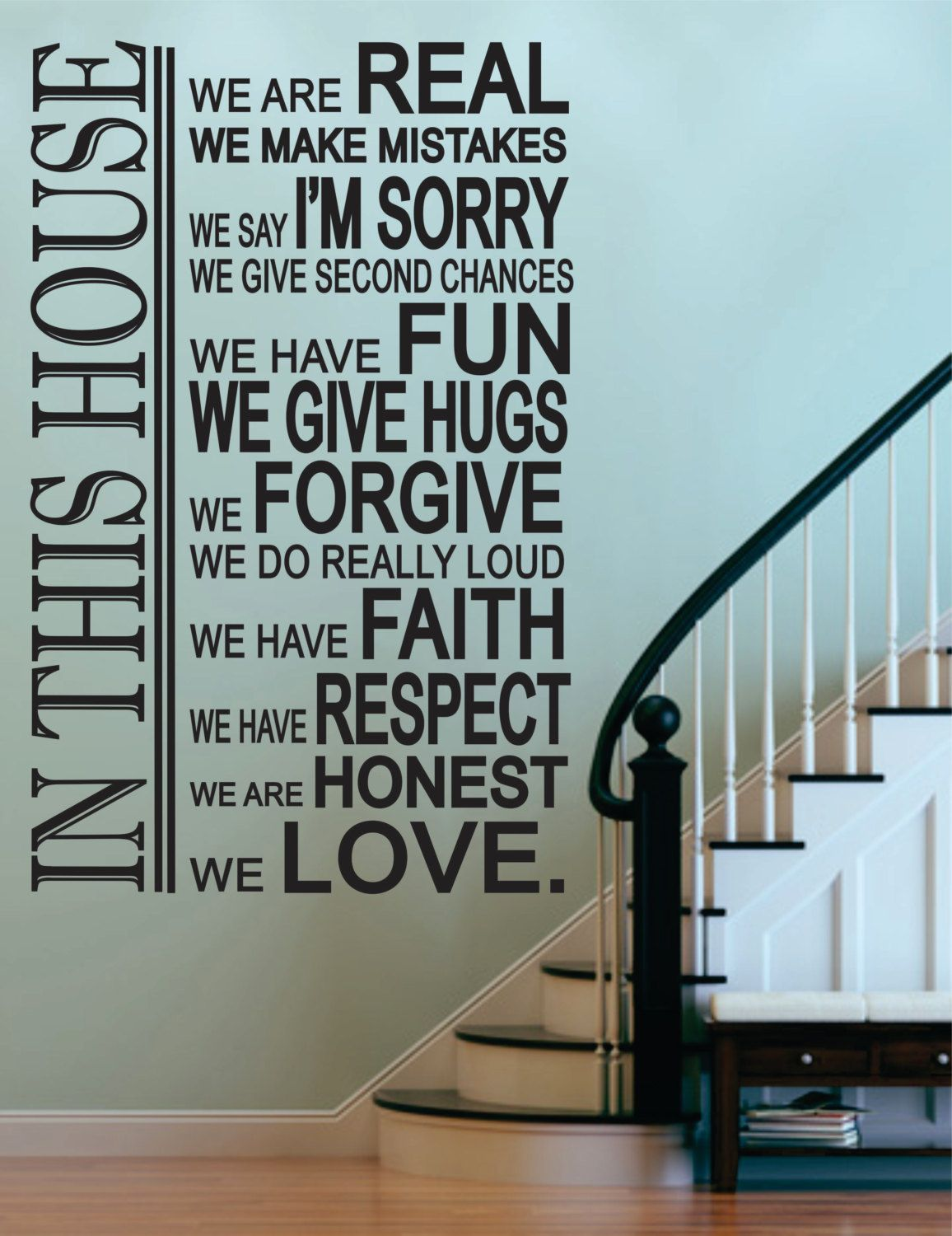 In This House Decal Family Decal Family Decor House Rules Decal