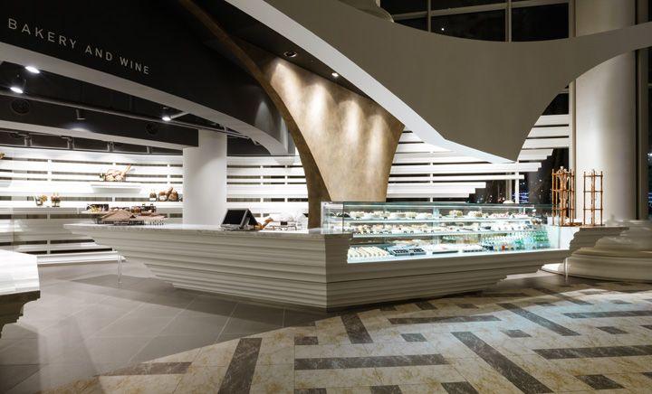 Architecture Bakery And Wine Shop Interior Design Scupture
