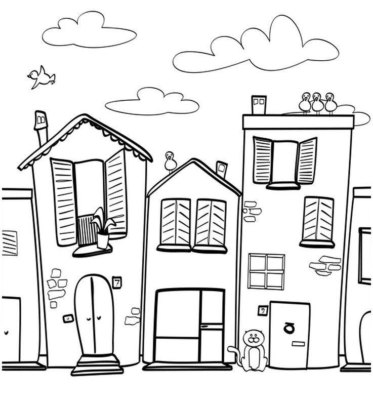 315 Kostenlos Malvorlage Haus Of Ausmalbild Menschen Und Ihr Zuhause Kostenlose Malvorlage Kostenlose Ausmalbilder Stickmuster Malvorlagen