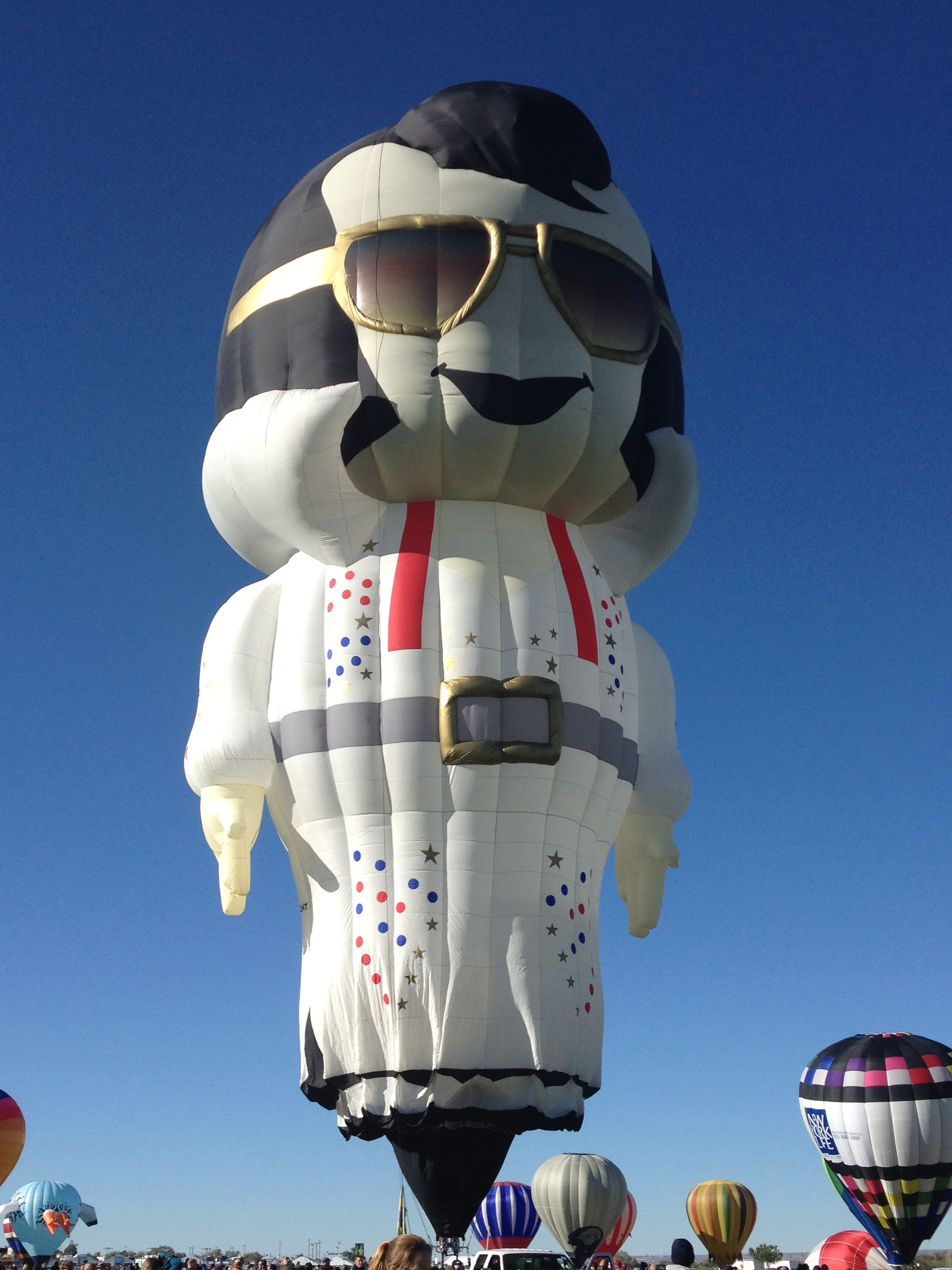 Elvis Balloon international Balloon Fiesta 2013 abq