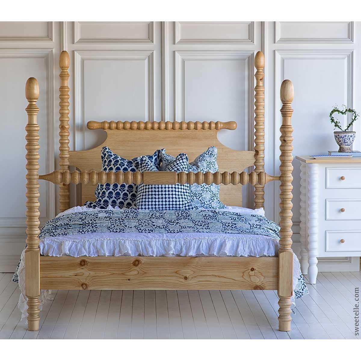 Modern Wood Queen Spindle Bed Modern Bed Frame Saracina Home Spindle Bed