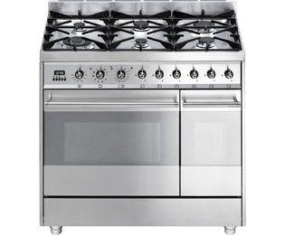 Smeg Sy92px8 Freestanding Dual Fuel Range Cooker Stainless Steel Self Cleaning 1348 Dual Fuel Range Cookers Range Cooker Dual Fuel Cooker