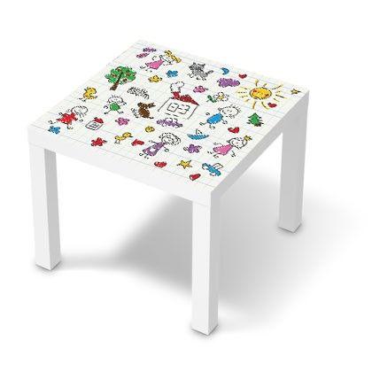 Stickers Pour Table Basse Lack 55x55 Dessins Enfants Sticker