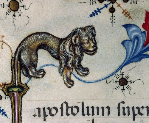 border lion Breviary of Mary of Savoy, Lombardy ca. 1430 Chambéry, Bibliothèque municipale, ms. 4, fol. 455v