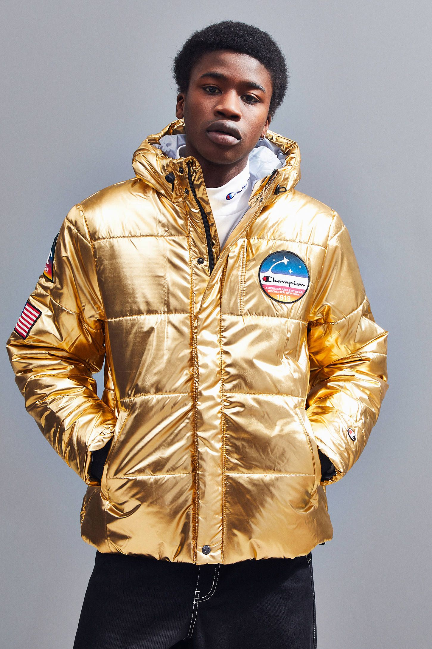 Champion Metallic Puffer Jacket Puffer Puffer Jackets Jackets [ 2175 x 1450 Pixel ]