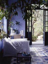 Periwinkle sun porch, beautiful tile