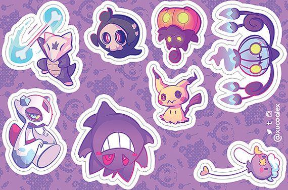 Duskull  Pokemon Go Pokemon Waterproof Self Adhesive Vinyl Sticker