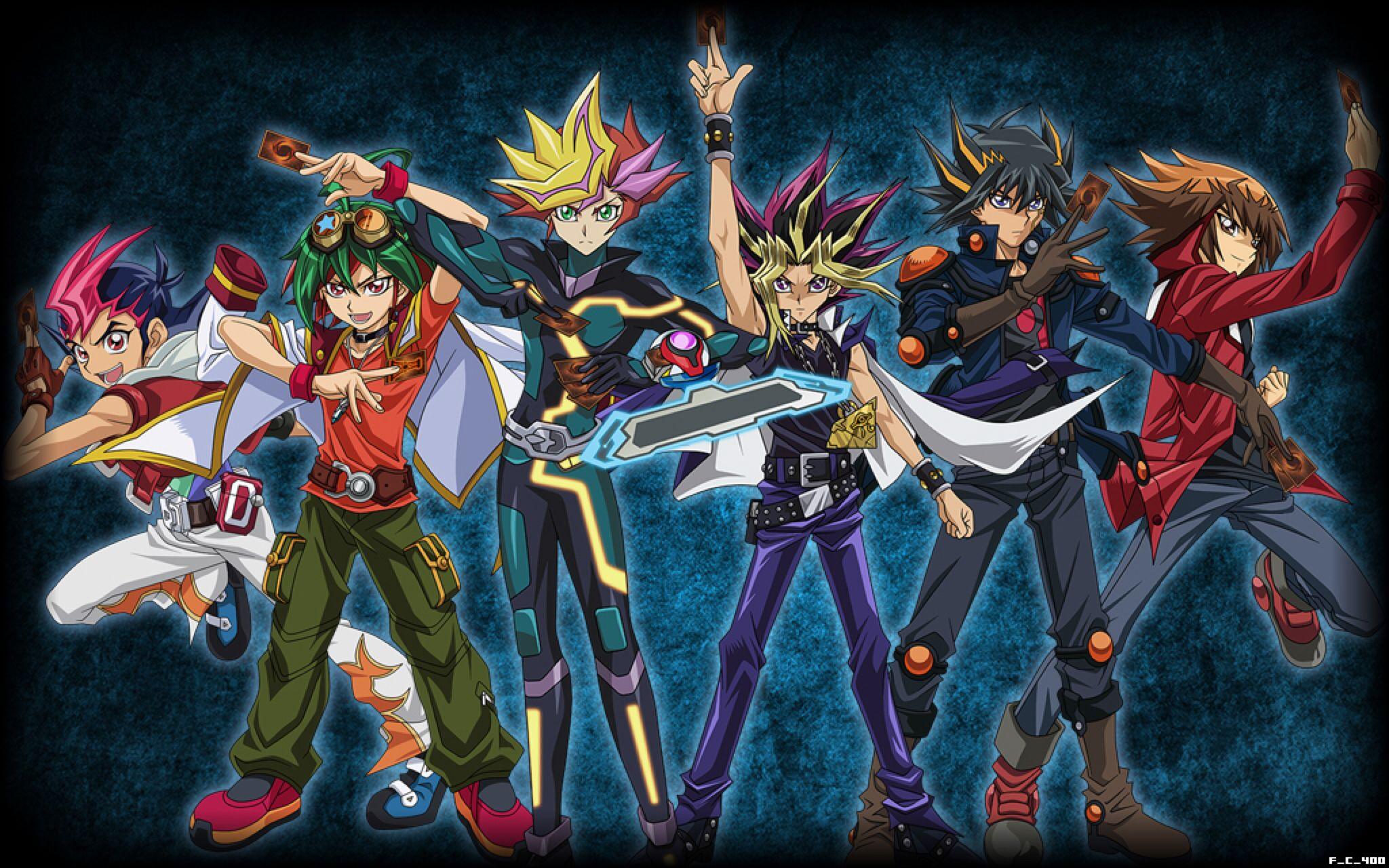 All Yu Gi Oh Protagonists Wallpaper Background By Fackuula12 On