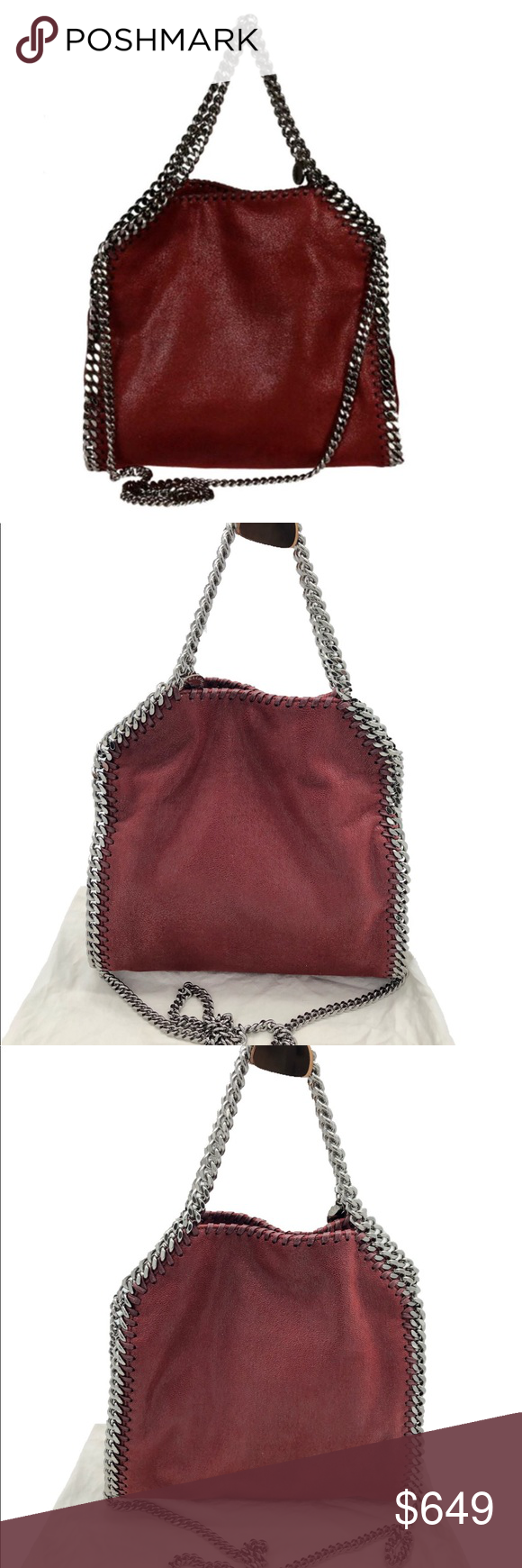 83e211aa818 Stella Mccartney Mini Falabella Foldover Crossbody This softly structured  tote features gleaming chain edging, top