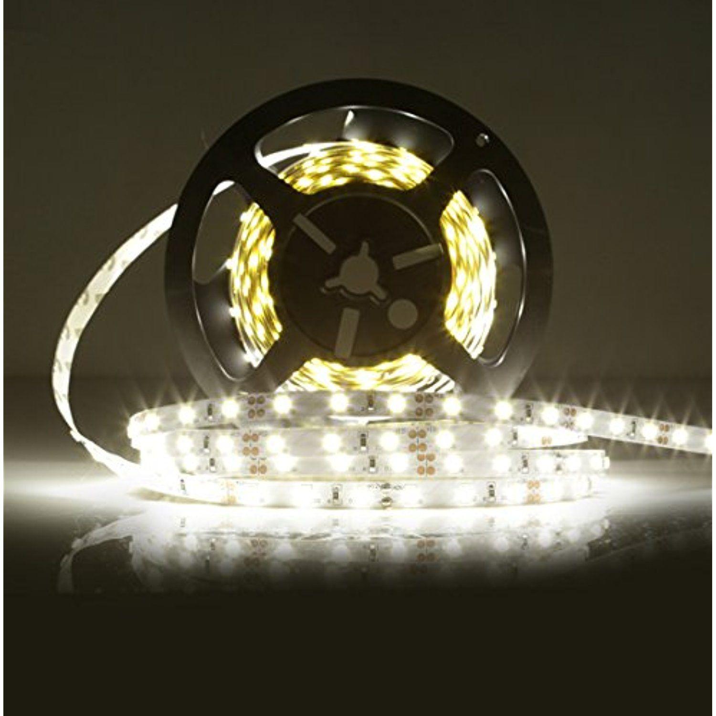 Ledmo Led Strip Light Smd2835 Non Waterproof Dc12v 300 Leds 16 4 Ft 15lm Led Cri80 White 6000k Check T Led Rope Lights Strip Lighting Led Strip Lighting
