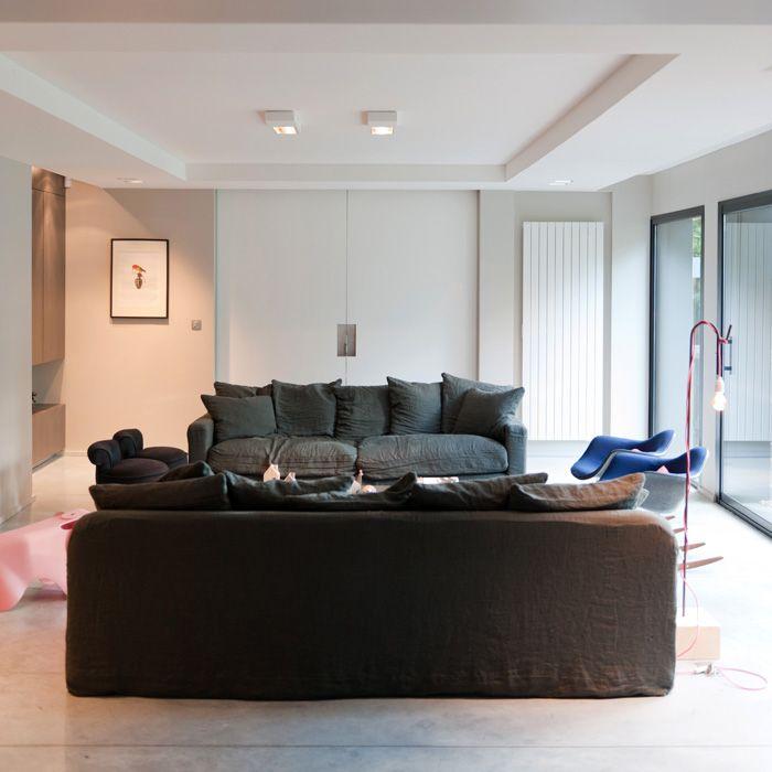 Extension maison contemporaine / aménagement design / Salon ...