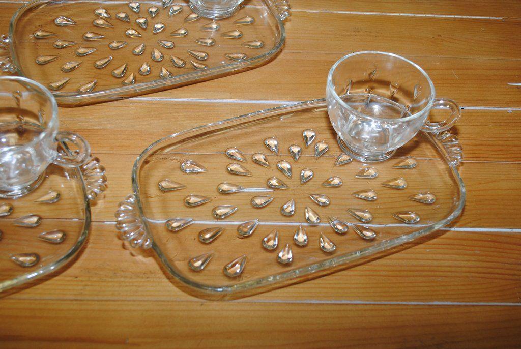 Vintage Informal Snack Set in Sparkling Crystal