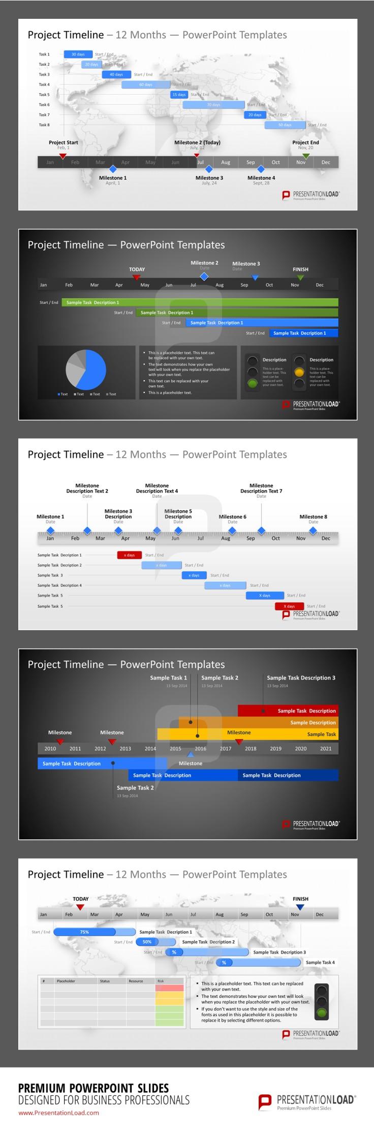 Project Timeline Powerpoint Template Presentationload Www
