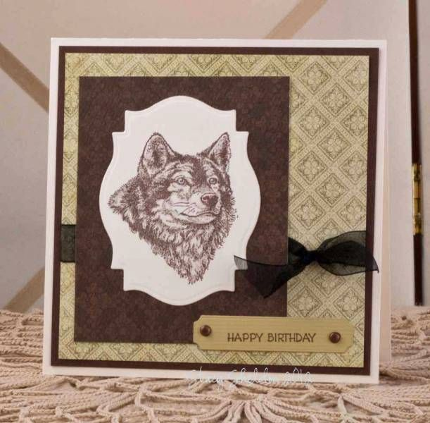 Wolf Birthday by JBgreendawn - Cards and Paper Crafts at Splitcoaststampers