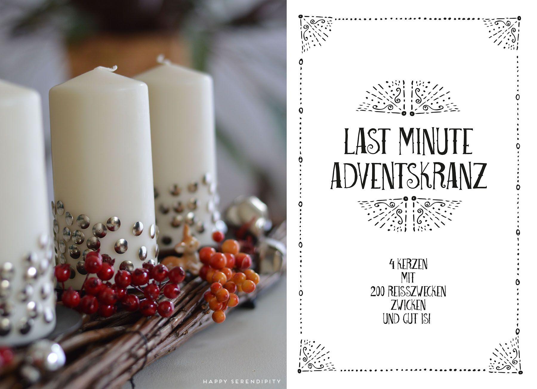 Der Adventskranz In Letzter Sekunde Mit Liebe Handgemacht Advent