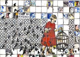 Manuela Pimentel, que mora no Porto, se inspira na azulejaria portuguesa e nos grafites