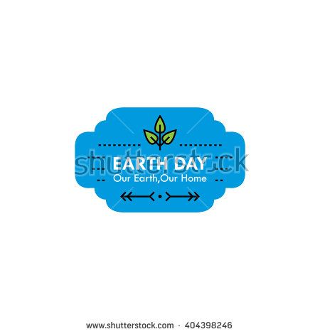 Earth day badges / labels.  Natural, go green, save the earth.  EPS10 - stock vector
