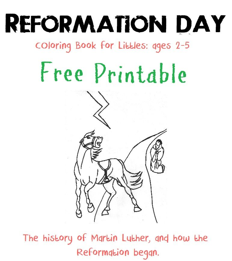 reformation day free printable coloring book ages 2 5 reformation day reformation day. Black Bedroom Furniture Sets. Home Design Ideas