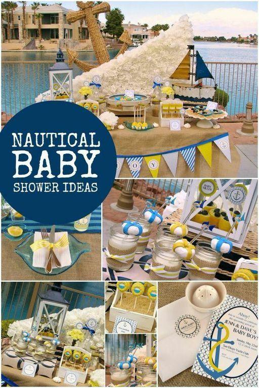 Baby Boy Nautical Baby Shower Party Ideas Diy Ideas Baby Shower