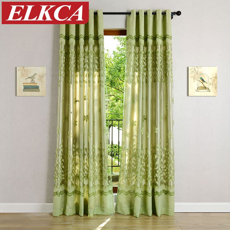 Green Pink Tulle Curtains For Living Room Kitchen The Bedroom Custom Made Window